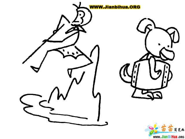 简笔画技法大全 孙悟空和猪八戒主题8张第7张图片
