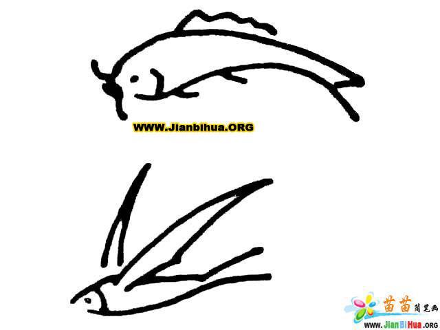 蝴蝶简笔画 蜜蜂简笔画 乌龟简笔画图片10张 第10张