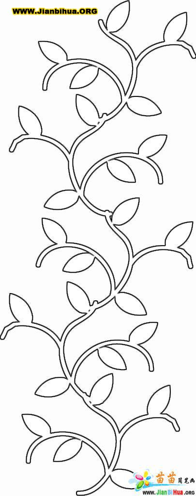 四叶草花边简笔画简单又漂亮_简易花边画法
