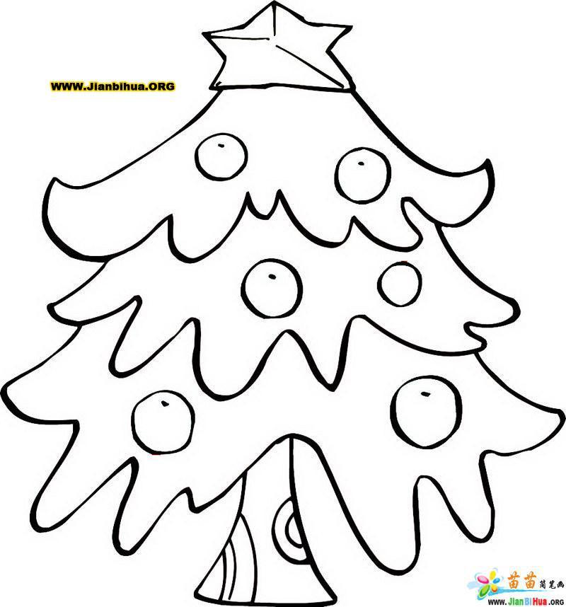 圣诞树简笔画的画法