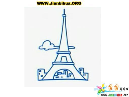 艾菲尔铁塔简笔画作品