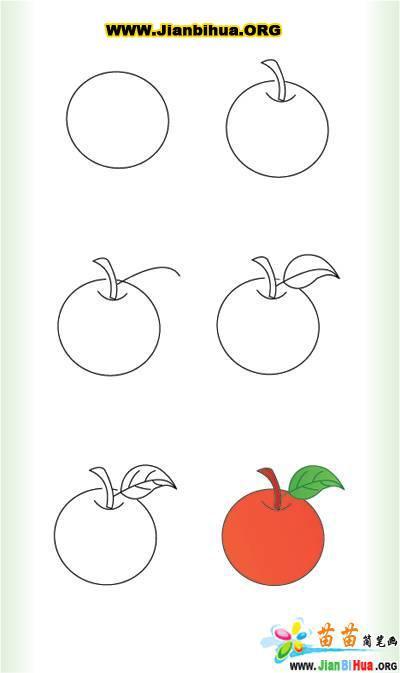 苹果树图片简笔画_苹果树的简笔画作品(第2张)