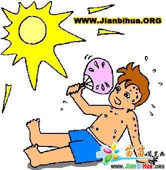 关于天气的简笔画彩色图片10张(第3张)图片