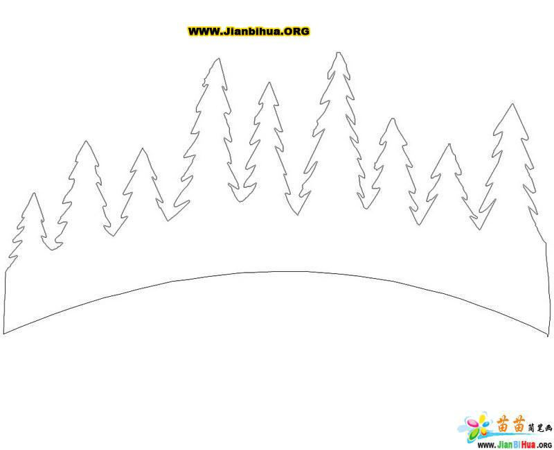 森林简笔画的画法(第2张)