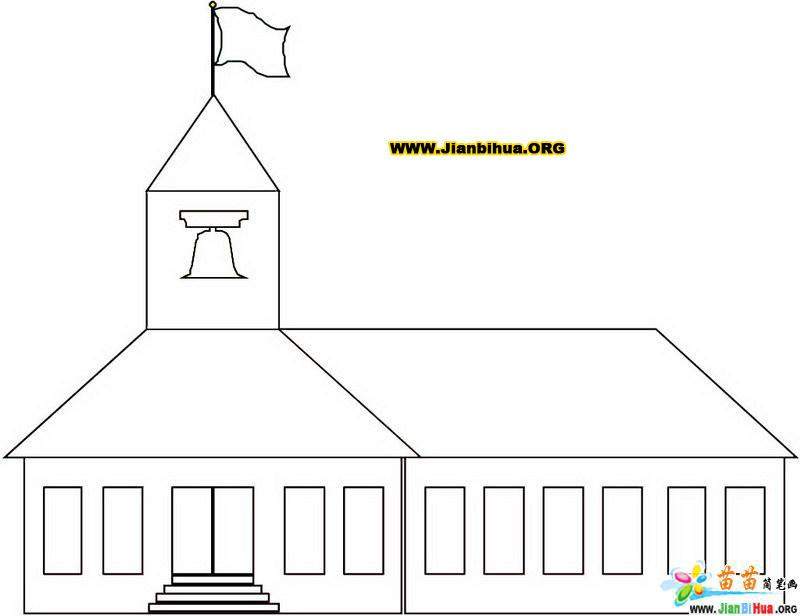 建筑物简笔画模仿图片(3张)