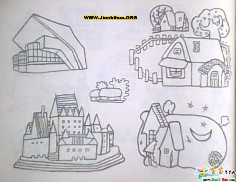 建筑物简笔画图片16张(第3张)
