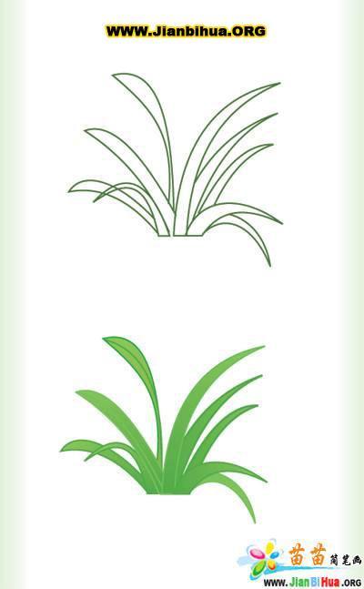 花朵的简笔画画法4张图片(第3张)
