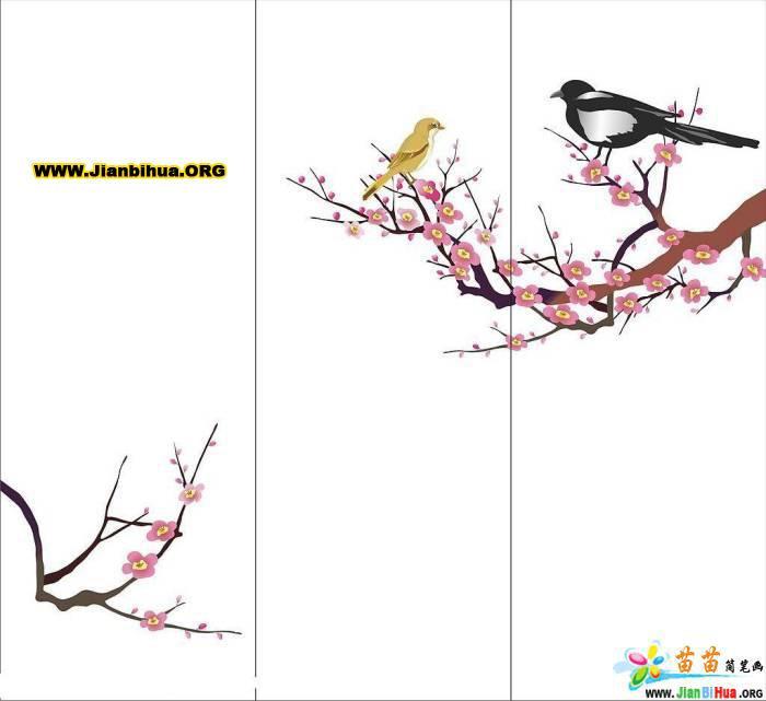 简笔画桃花树的画法步骤图