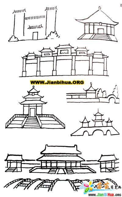 建筑物的简笔画画法(5张)