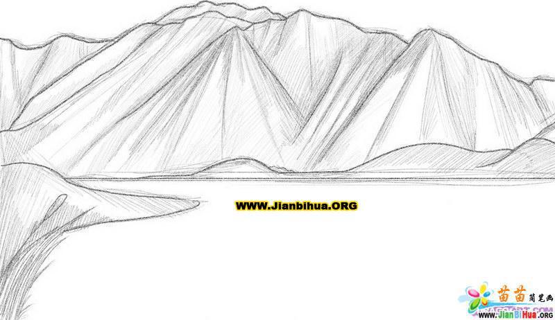 山的简笔画图片