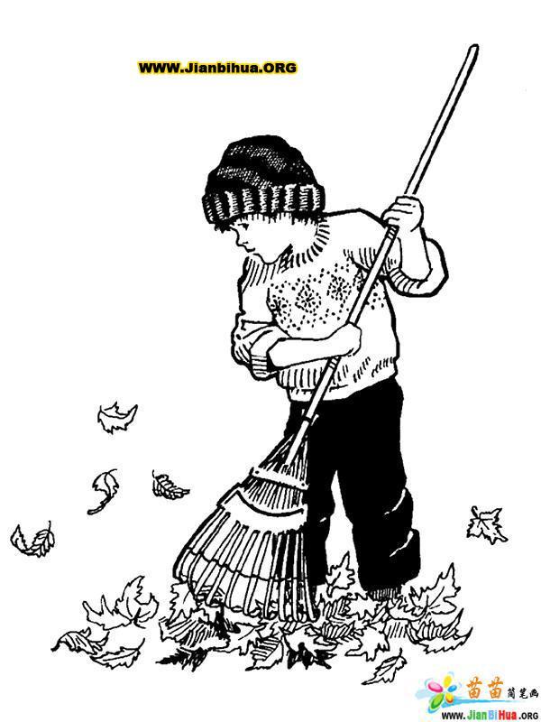 秋天风景简笔画图片37张(第34张)