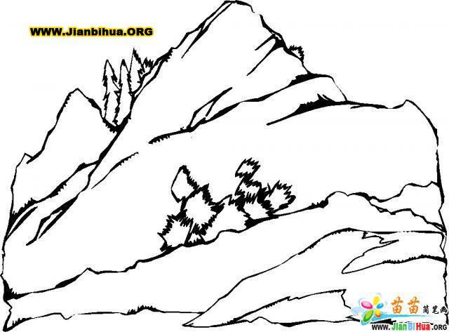 高山简笔画15张 风景篇 第7张