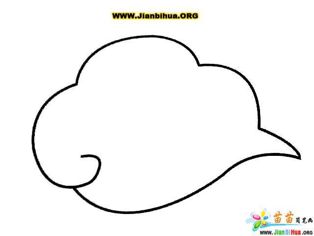 蓝天白云怎么画简笔画分享展示