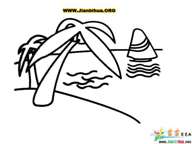 大海简笔画图片大全 第2张