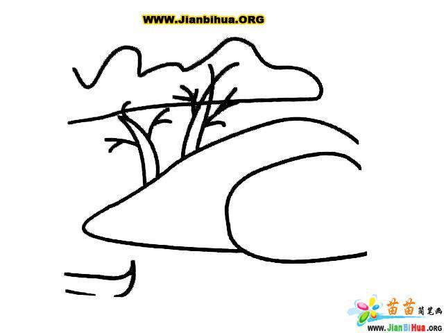 湖泊简笔画图片教程 第6张