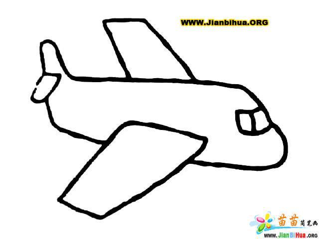 自由女神与飞机的简笔画第4张