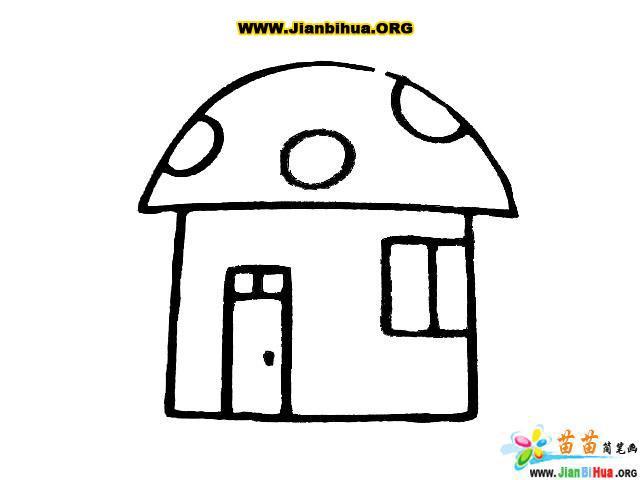 风车和房子简笔画图片7张 第3张