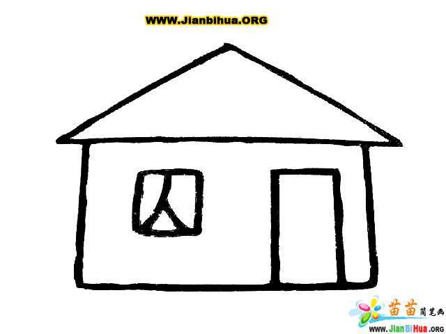 風車和房子簡筆畫圖片7張(第6張)