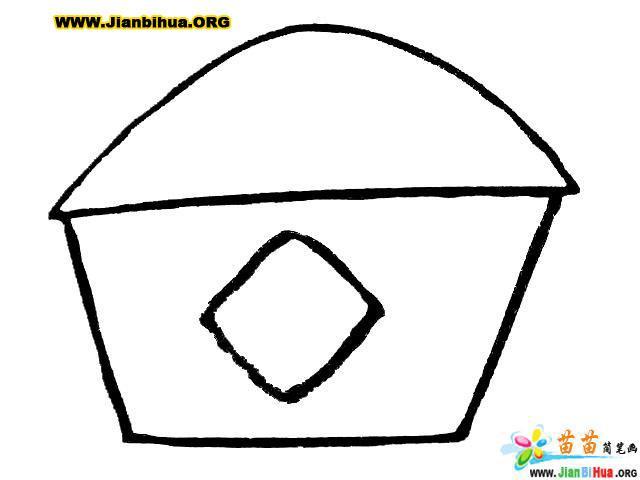 風車和房子簡筆畫圖片7張(第7張)