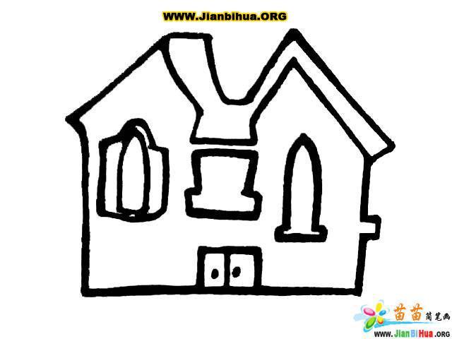 风车和房子简笔画图片7张 第9张