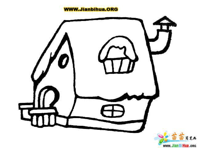 风车和房子简笔画图片7张(第11张)