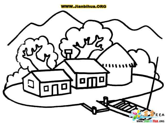 建筑简初中主题--山间半期笔画小屋分析成绩考试图片