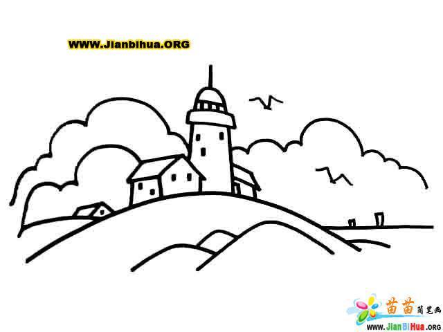 热门建筑物简笔画图片 简笔画教程 十万个为什么儿童版 动物简笔画