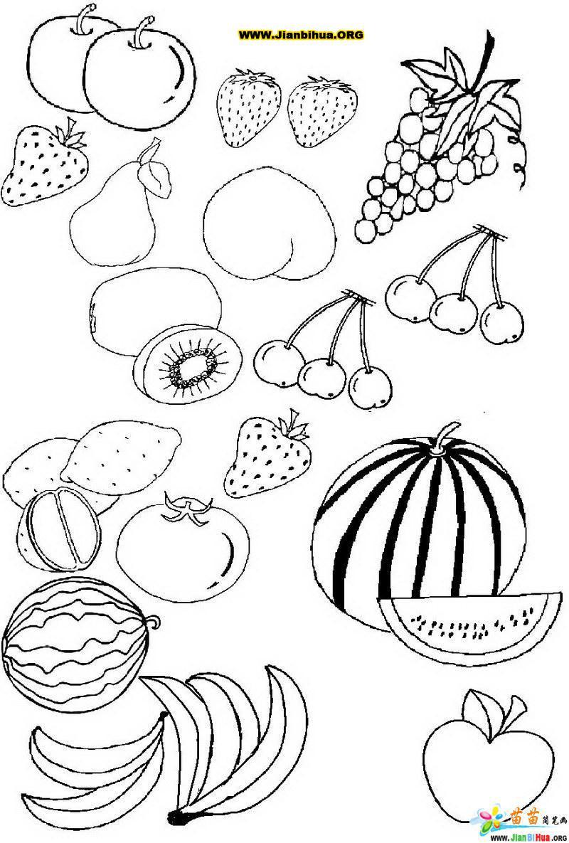 水果简笔画图片大全(9张)