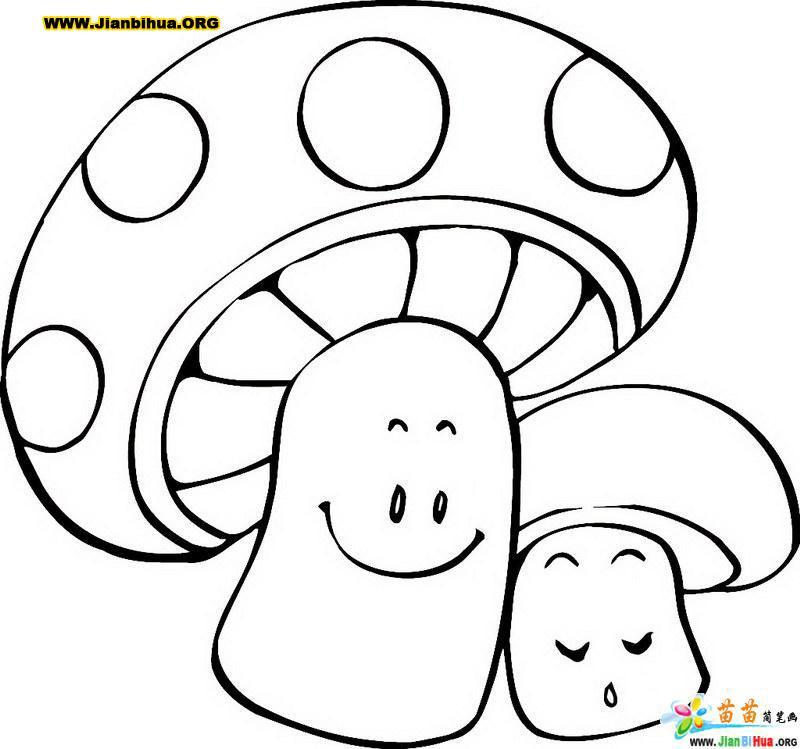 蘑菇简笔画的画法