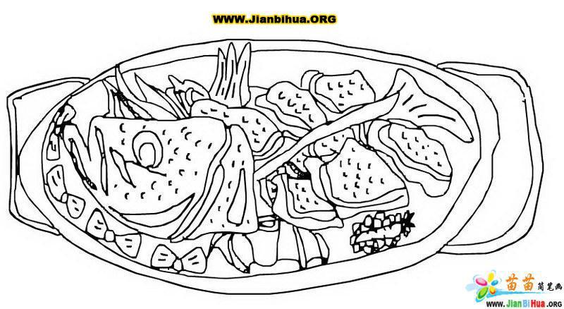 好吃的美味侍肴简笔画2张 第2张