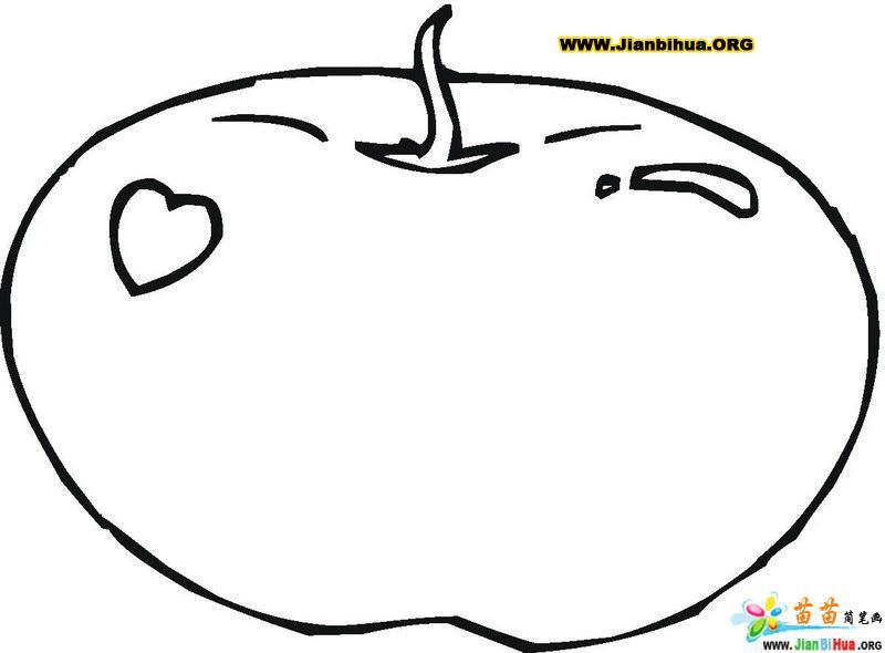 可爱苹果简笔画8张 第10张