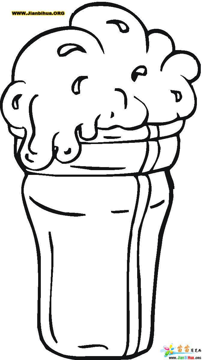 冰淇凌简笔画 零食类 9张 第2张