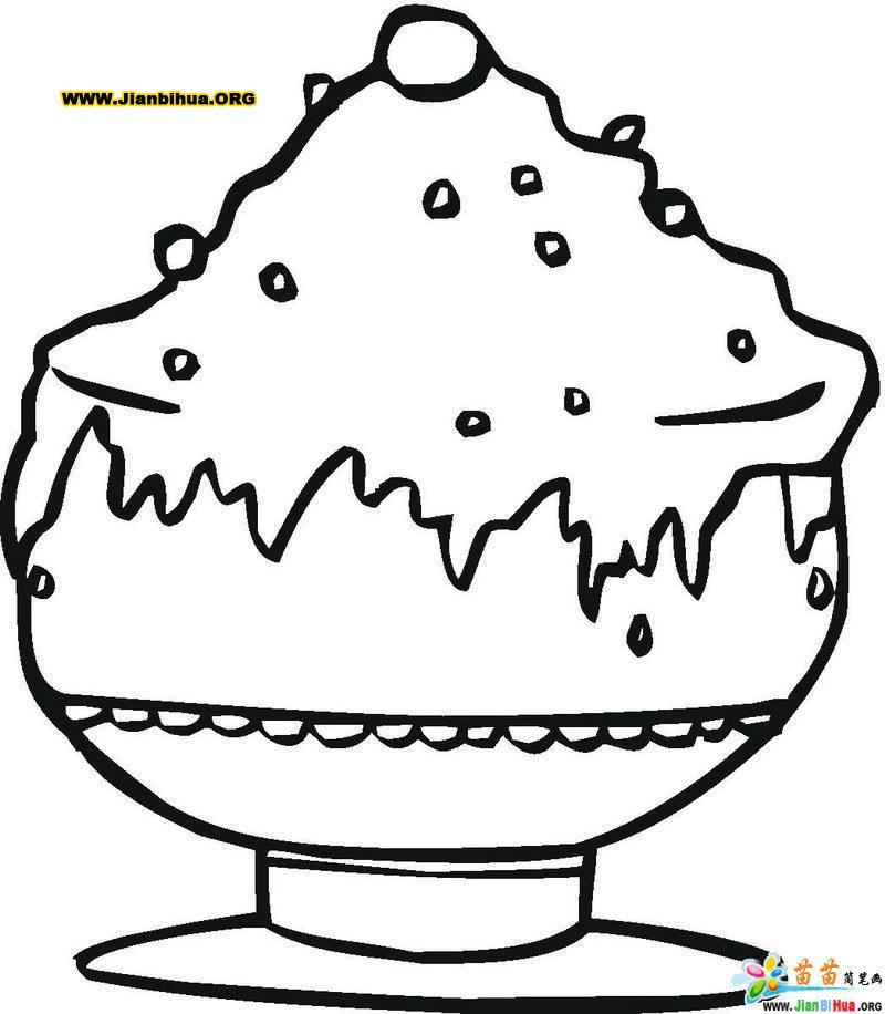 冰淇凌简笔画(零食类)9张第3张