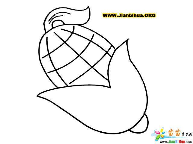 玉米棒简笔画的画法(第3张)图片