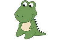 鳄鱼简笔画彩色图片大全、教程