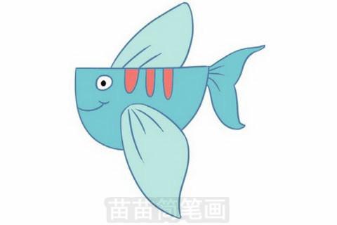 飞鱼简笔画大图