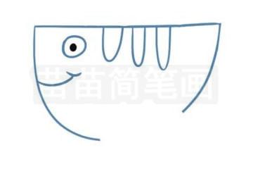 飞鱼简笔画图片步骤二