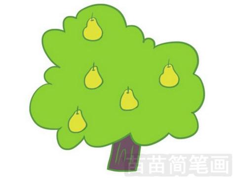 果树简笔画图片大全作品一