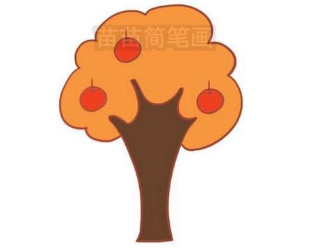 果树简笔画图片大全,画法