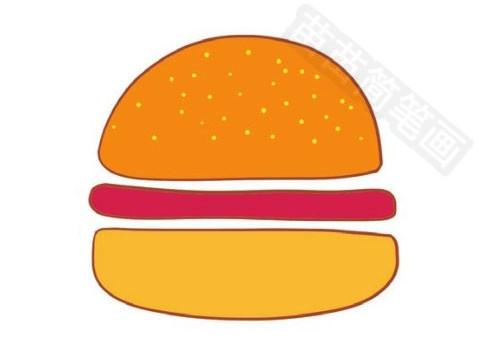 汉堡简笔画图片大全作品四