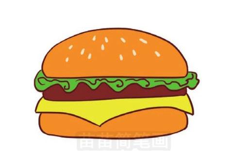 汉堡简笔画图片大全作品五