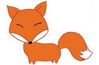 狐狸简笔画彩色图片大全、教程