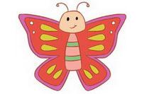 蝴蝶简笔画彩色图片大全、教程