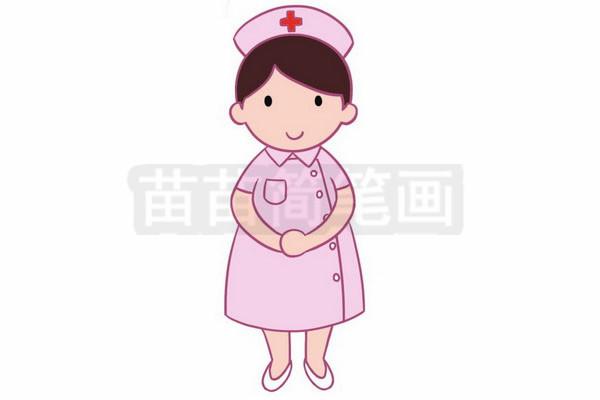 护士简笔画图片大全,画法图片