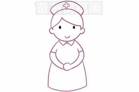 护士简笔画_护士简笔画图片大全,画法