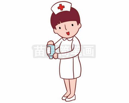 护士简笔画图片大全,画法