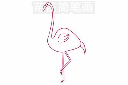 火烈鸟简笔画图片大全 画法