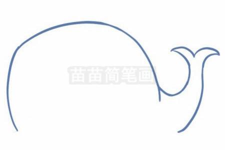 鲸鱼简笔画图片步骤二