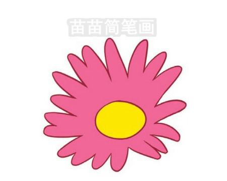 菊花简笔画图片大全作品三