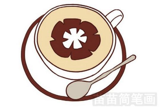 咖啡简笔画图片大全,画法